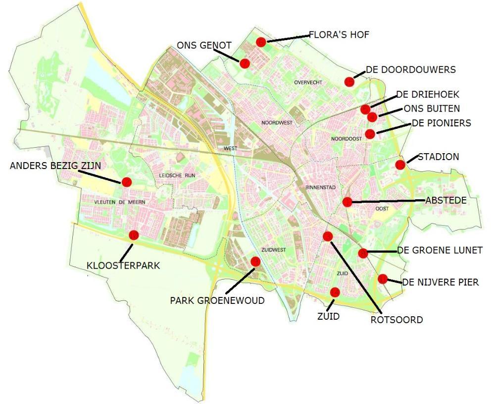 Volkstuinverenigingen in Utrecht